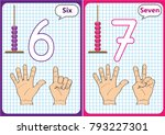 learning the numbers 0 10 ... | Shutterstock .eps vector #793227301