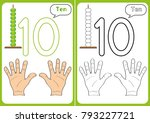 learning the numbers 0 10 ... | Shutterstock .eps vector #793227721