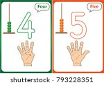 learning the numbers 0 10 ... | Shutterstock .eps vector #793228351
