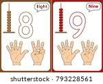 learning the numbers 0 10 ... | Shutterstock .eps vector #793228561