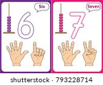 learning the numbers 0 10 ... | Shutterstock .eps vector #793228714