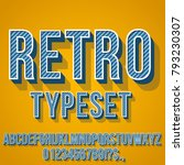 retro blue colored vintage text ... | Shutterstock .eps vector #793230307
