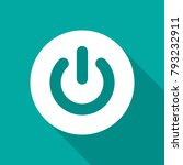 power button icon with long... | Shutterstock .eps vector #793232911