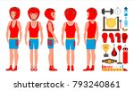 male exercising boxing. active...   Shutterstock . vector #793240861