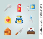 icon set about real assets.... | Shutterstock .eps vector #793243459