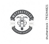 motorcycle club logo template... | Shutterstock .eps vector #793244821