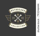 car wheel logo template vector... | Shutterstock .eps vector #793246444