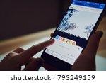 bangkok  thailand   january 14  ... | Shutterstock . vector #793249159
