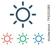 sun icon set   simple flat... | Shutterstock .eps vector #793251085