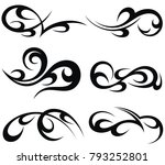 abstract tribal tattoo patterns | Shutterstock .eps vector #793252801