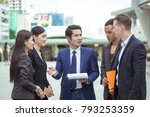 group of officer talking...   Shutterstock . vector #793253359