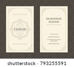 luxury business card and... | Shutterstock .eps vector #793255591