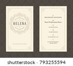 luxury business card and... | Shutterstock .eps vector #793255594