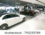 blurred dealership store bokeh... | Shutterstock . vector #793255789
