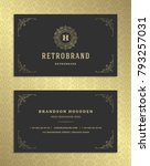 luxury business card and golden ... | Shutterstock .eps vector #793257031