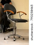 Small photo of the special turning chair for the client in salon of hairdressing salon