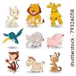 cartoon animal icon set | Shutterstock .eps vector #79326058