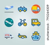 icon set about transport. with... | Shutterstock .eps vector #793264309
