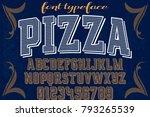 font alphabet script typeface... | Shutterstock .eps vector #793265539