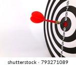dart arrow hitting in the... | Shutterstock . vector #793271089