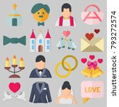 icons set about wedding. with...   Shutterstock .eps vector #793272574