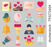 icons set about wedding. with... | Shutterstock .eps vector #793272604
