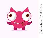cute crazy monster. crazy... | Shutterstock .eps vector #793274275