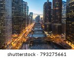 chicago downtown buildings and... | Shutterstock . vector #793275661