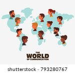group of happy smiling young... | Shutterstock .eps vector #793280767
