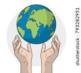 planet and hands design | Shutterstock .eps vector #793282951