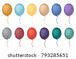 balloon concept for decoration. ... | Shutterstock .eps vector #793285651