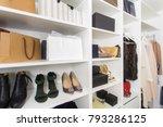 modern walk in closet with...   Shutterstock . vector #793286125