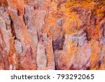 old rusted corrosion metal... | Shutterstock . vector #793292065