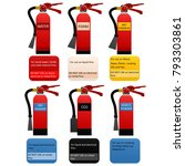 fire classification table. fire ... | Shutterstock . vector #793303861