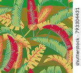 abstract color palm leaves in... | Shutterstock .eps vector #793304431