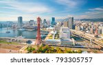 skyline and port of kobe in... | Shutterstock . vector #793305757