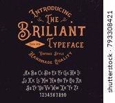 original handmade alphabet.... | Shutterstock .eps vector #793308421
