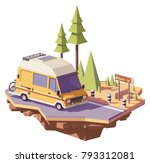 vector low poly classic station ... | Shutterstock .eps vector #793312081