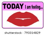 today i am feeling love badge... | Shutterstock .eps vector #793314829