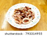 Small photo of Taiwanese style food, Saute neritic squid.