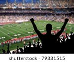 fan celebrating a victory at a... | Shutterstock . vector #79331515