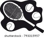 Tennis Racket With Tennis Ball...