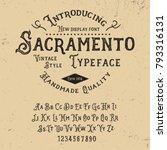 original handmade alphabet.... | Shutterstock .eps vector #793316131