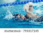 professional swimmer  swimming... | Shutterstock . vector #793317145