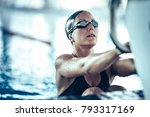 professional swimmer in... | Shutterstock . vector #793317169