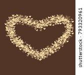 heart brown pattern which... | Shutterstock .eps vector #793320961