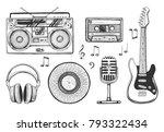 vector illustration of a hand... | Shutterstock .eps vector #793322434