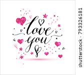 calligraphy card with lettering ...   Shutterstock .eps vector #793326181