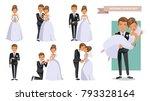 wedding couple set of... | Shutterstock .eps vector #793328164