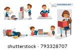 children library of education... | Shutterstock .eps vector #793328707